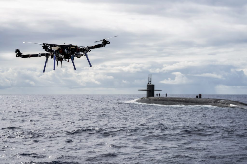 Drone Delivers Payload to USS Henry M. Jackson